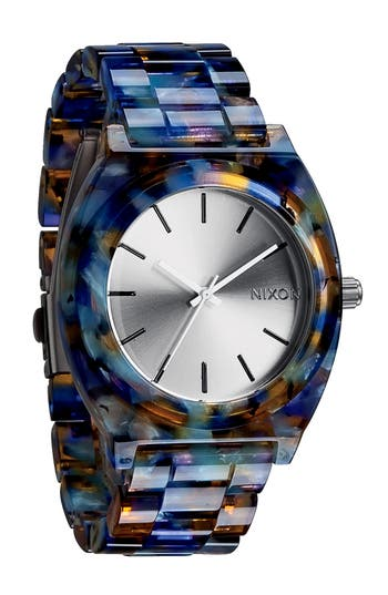 Women's Nixon 'The Time Teller Watercolor' Watch, 39Mm X 37Mm