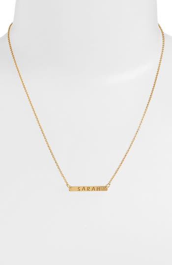 Women's Argento Vivo Personalized Bar Monogram Necklace (Nordstrom Exclusive)