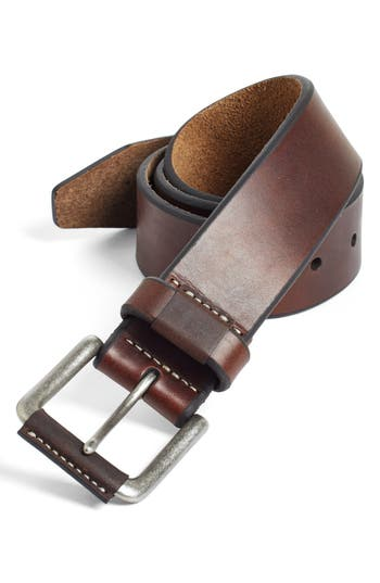 Big & Tall Johnston & Murphy Leather Belt, Brown