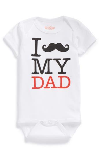 Infant Boy's Sara Kety Baby & Kids 'Mustache My Dad' Bodysuit