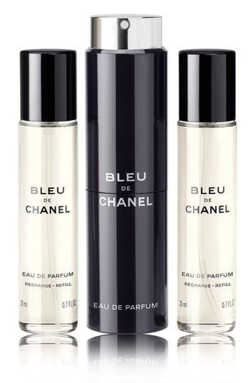 Chanel Bleu De Chanel Eau De Parfum Pour Homme Refillable Travel Spray Set