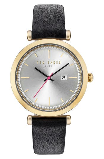 Women's Ted Baker London Ava Leather Strap Watch, 36Mm