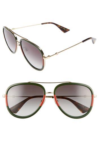 Gucci 57Mm Aviator Sunglasses -