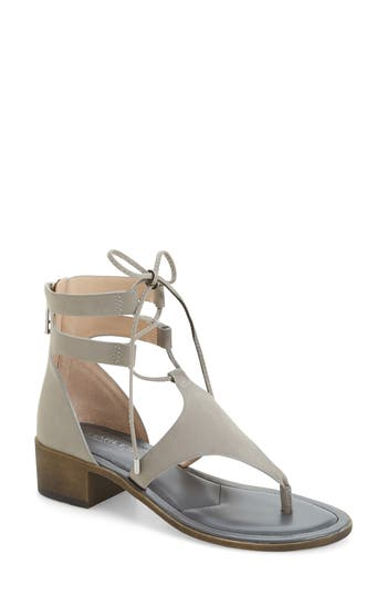 Women's Charles By Charles David Chessa Lace-Up Sandal, Size 8 M - Grey