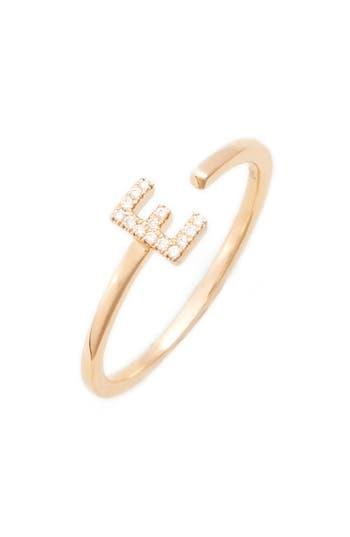 Women's Dana Rebecca Designs Single Initial Open Ring