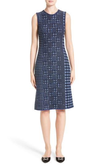 Women's Oscar De La Renta Pixelated Houndstooth Sheath Dress