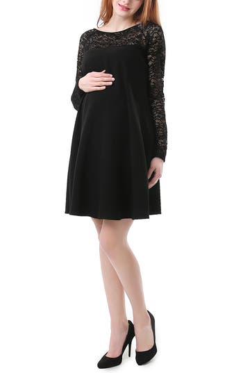 Women's Kimi And Kai Elle Lace Trim Maternity Dress