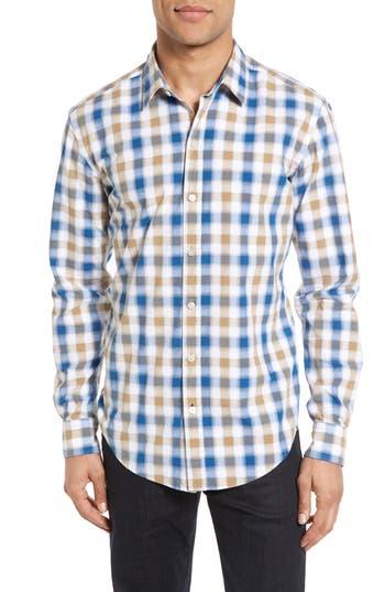 Men's Boss Robbie Sharp Fit Check Sport Shirt