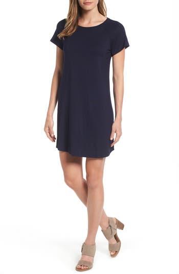 Women's Bobeau Back Cutout Tunic Dress, Size Small - Blue