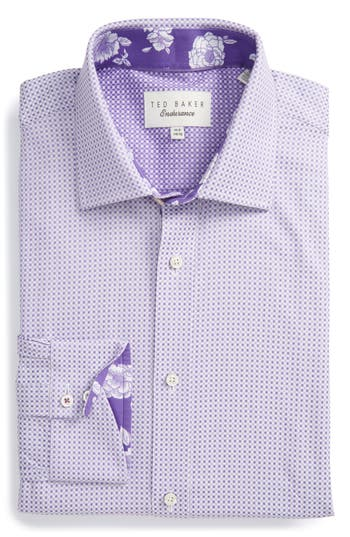 Men's Ted Baker London Eager Trim Fit Geometric Dress Shirt