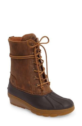 Sperry Saltwater Wedge Reeve Waterproof Boot, Brown
