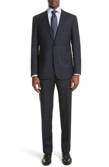 Men's Armani Collezioni Trim Fit Plaid Wool Suit