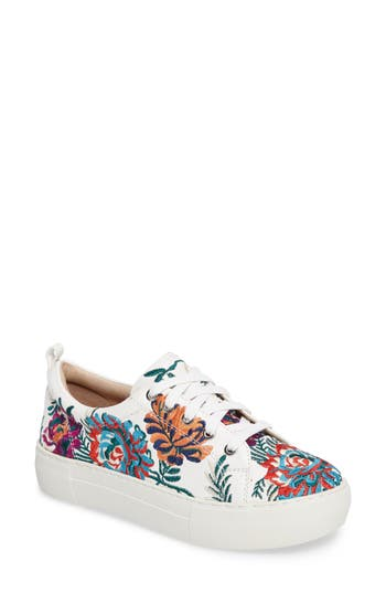 Jslides Aprie Embroidered Sneaker, White