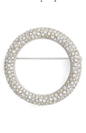 Women's Nadri Pave Circle Brooch