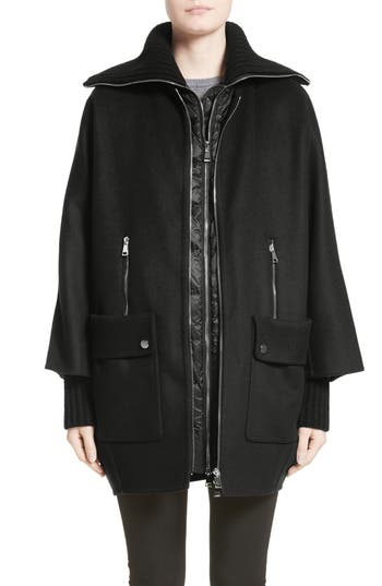 Women's Moncler Acanthus Wool & Cashmere Coat With Removable Down Puffer Layer