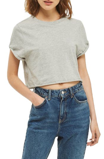 Women's Topshop Roll Crop Tee