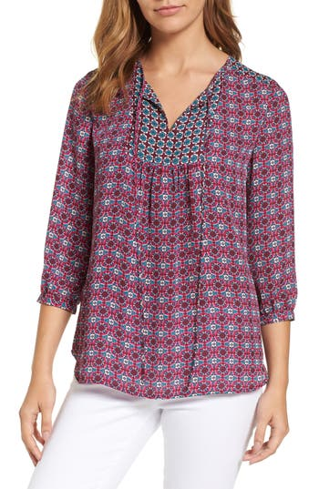 Women's Kut From The Kloth Maci Floral Top, Size X-Small - Purple