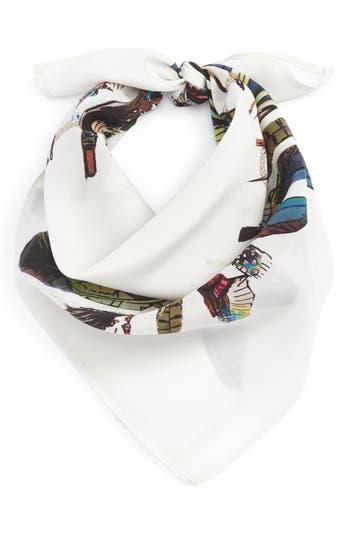 Women's Rockins Feathers Silk Bandana