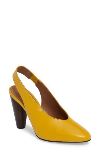 Women's Topshop Gabriel Slingback Pump, Size 8.5US / 39EU - Yellow