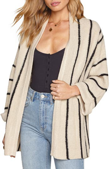 Women's Amuse Society Beckett Stripe Sweater, Size Medium/Large - Beige