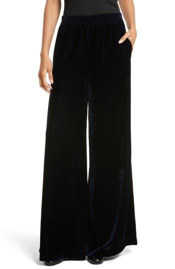Women's Nili Lotan Harlow Sandwashed Velvet Pants