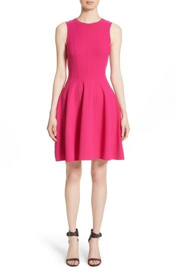 Women's Michael Kors Stretch Wool Bell Dress