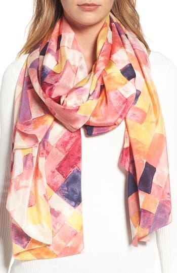 Women's Nordstrom Mosaic Silk Wrap, Size One Size - Yellow