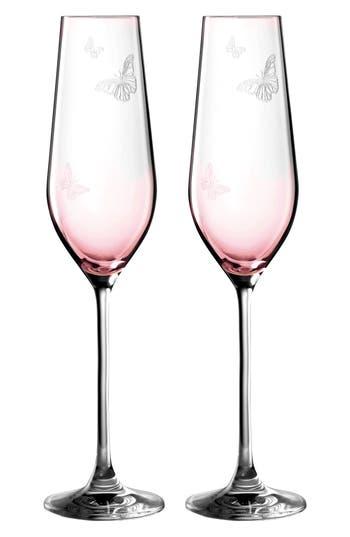 Miranda Kerr For Royal Albert Friendship Set Of 2 Champagne Flutes, Size One Size - Pink