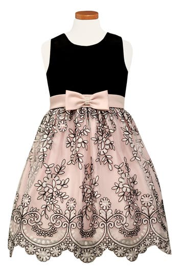 Girl's Sorbet Embroidered Party Dress