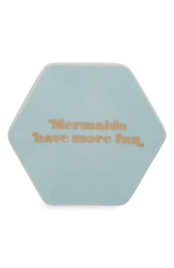 Fringe Studio Mermaids Porcelain Trinket Tray, Size One Size - Green