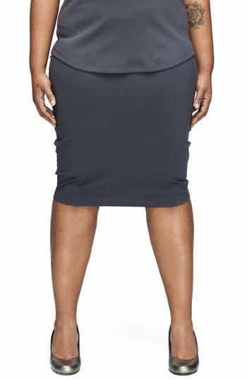 Plus Size Universal Standard Danube Jersey Skirt, Grey