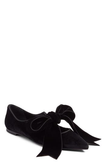 Women's Tory Burch Clara Bow Flat, Size 6.5 M - Black