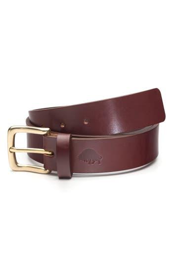 Ezra Arthur No. 1 Leather Belt, Burgundy