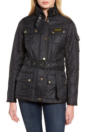 Barbour Water Resistant Polarquilt Moto Jacket, US / 8 UK - Black