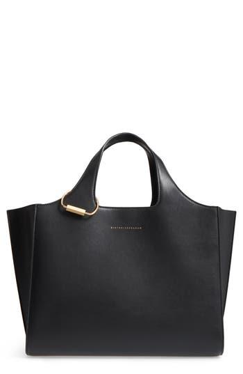 Victoria Beckham Newspaper Leather Tote - Black