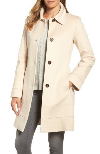 Women's Fleurette Wool Coat, Size 2 - White