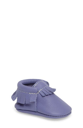 Infant Freshly Picked Classic Moccasin, Size 1 M - Purple