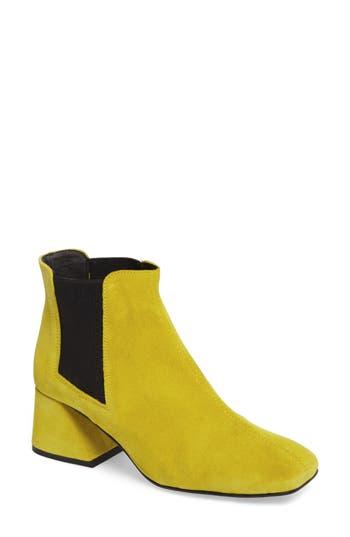 Topshop Manuel Architectural Heel Bootie - Yellow