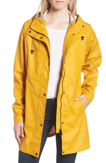 Women's Illse Jacobsen Hornbaek Raincoat, Size 36 - Yellow