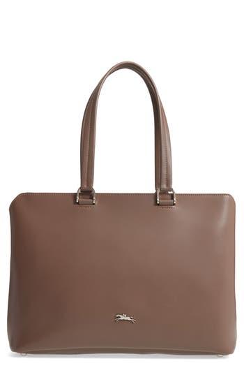 Longchamp Honoré 404 Leather Tote - Beige