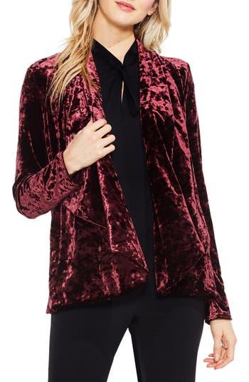 Women's Vince Camuto Velvet Drape Collar Jacket, Size X-Small - Red