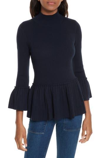 Women's Ted Baker London Lislie Peplum Sweater, Size 0 - Blue