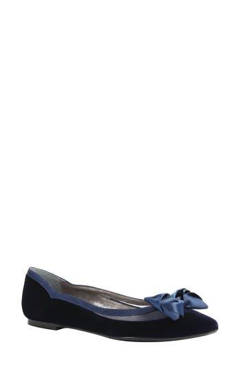 Women's J. Renee Allitson Bow Flat, Size 8.5 D - Blue