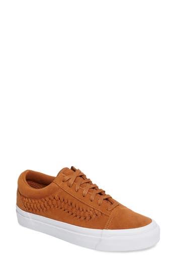 Women's Vans Old Skool Weave Dx Sneaker, Size 5 M - Brown