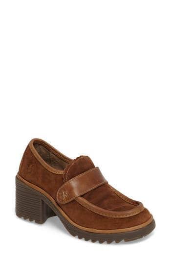 Women's Fly London Wendy Pump, Size 5.5-6US / 36EU - Brown