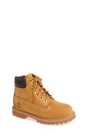 Kid's Timberland '6 Inch Premium' Waterproof Boot, Size 3.5 M - Yellow