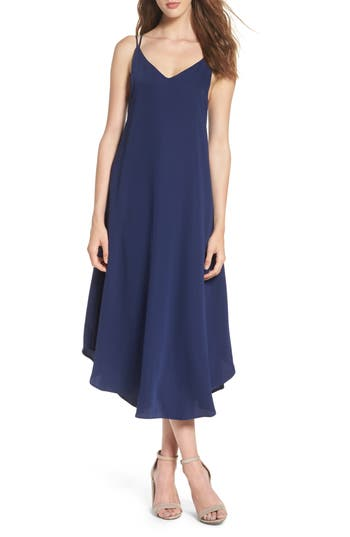 Women's Nsr Midi Slipdress, Size Small - Blue