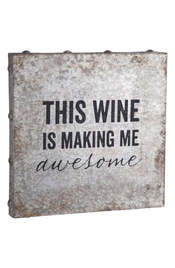 Foreside Wine Metal Wall Art