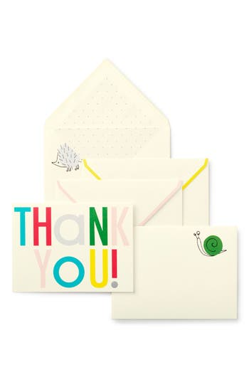 Infant Kate Spade New York Hey Baby 10-Pack Thank You Cards