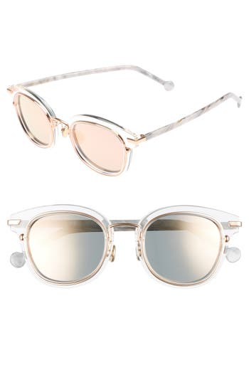 Women's Dior Origins 1 53Mm Round Sunglasses - Crystal